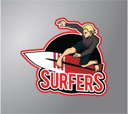 Wind surfer Ilustração Vetorial