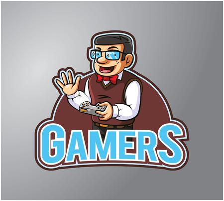 gamers: Gamers Illustration design badge