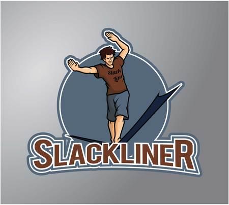 rope walker: Slackliner Illustration