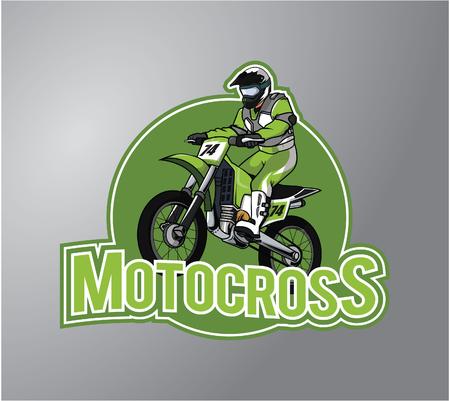 Motocross Illustration design badge