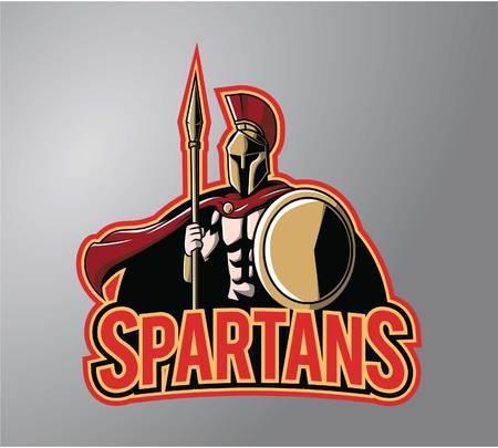 guerrero: Espartanos dise�o de ilustraci�n de los s�mbolos Vectores