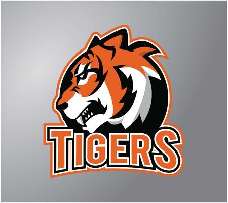 Tiger head symbol illustration design