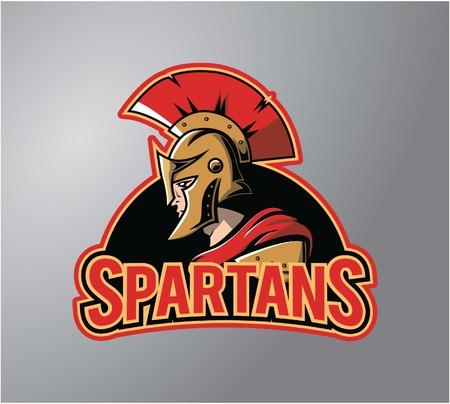 arte greca: Spartans simbolo design illustrazione
