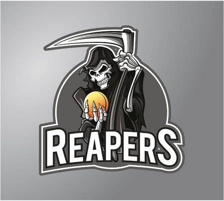 Ilustración Reaper diseño de la insignia