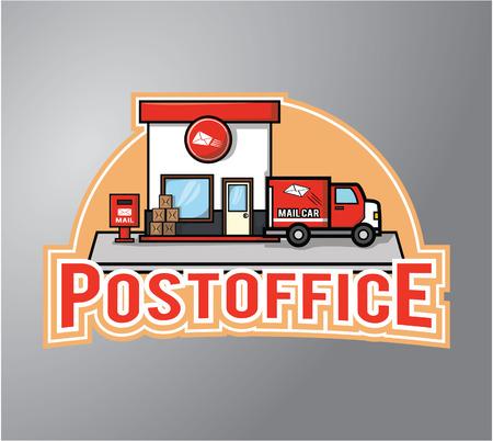 postoffice: Postoffice Illustration design badge