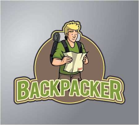 backpacker: Backpacker boy illustration