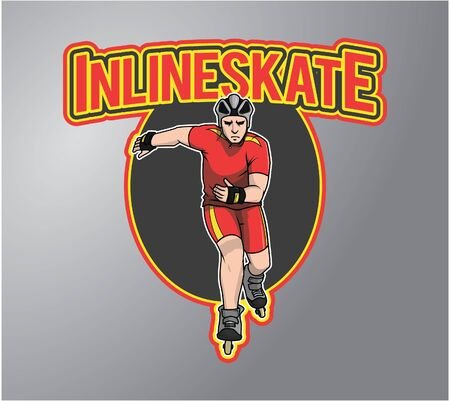 inline: Inline Skate Illustration design badge