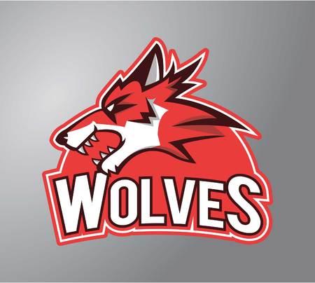 stiker: Wolves symbol illustration design