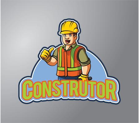 construction safety: Construction man illustration