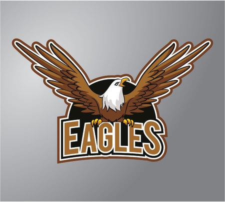 cartoon eagle: Eagle Illustration design badge Illustration