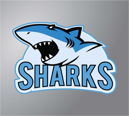 Sharks symbol illustration design Иллюстрация