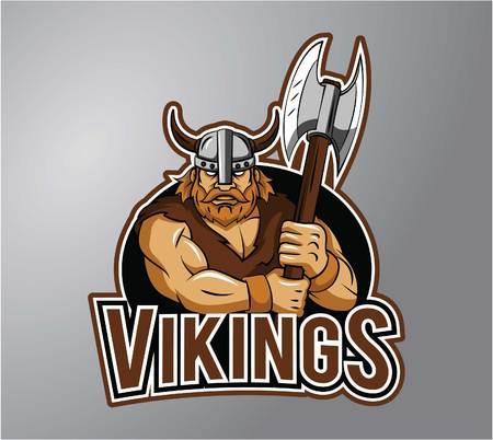 vikings: Vikings symbol illustration design Illustration