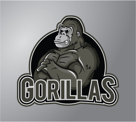Gorilla Illustration design badge