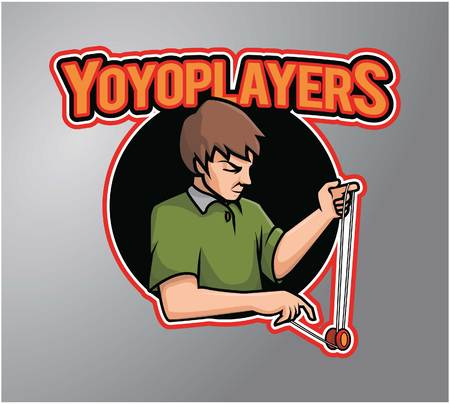 yoyo: Yoyo Player vector illustration
