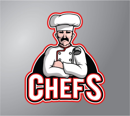 cooking chef: Chef man illustration
