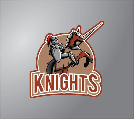 team sports: Knight Ilustración diseño de la insignia Vectores