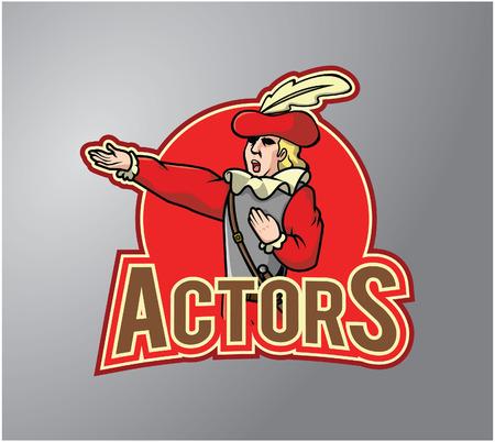 cabaret stage: Actor costume illustration
