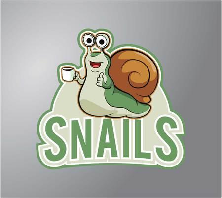 slow food: Snails Illustration