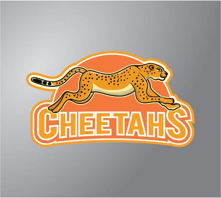 team sports: Cheetah Vectores