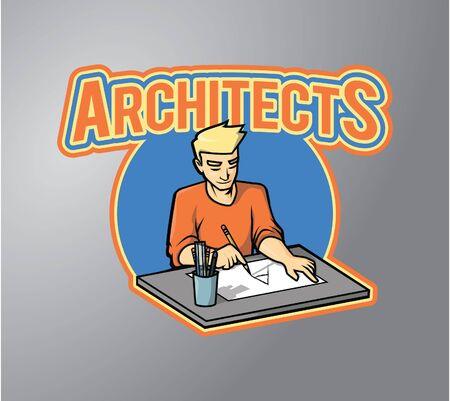 architect drawing: Architect drawing illustration