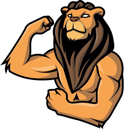 lion claw: Strong lion