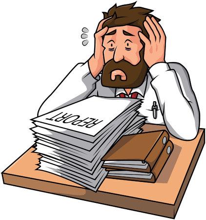 tired businessman: Businessman tired Illustration
