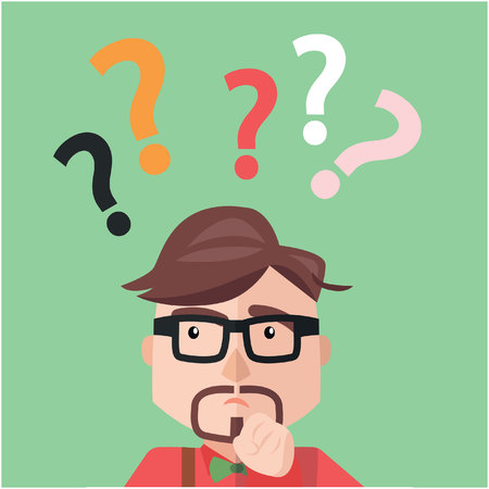 ask: Businessman asking sign