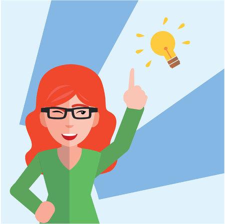 Pomysł na biznes kobieta Ilustracje wektorowe