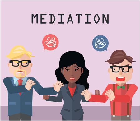 Partnership conflict mediator Illustration