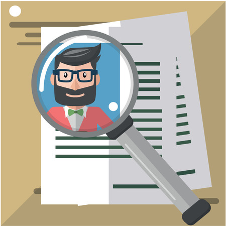 Business man find talent Illustration