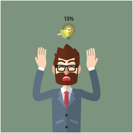getting late: Business man getting late Illustration
