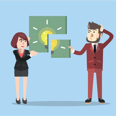 Idea puzzel zakelijke solfing