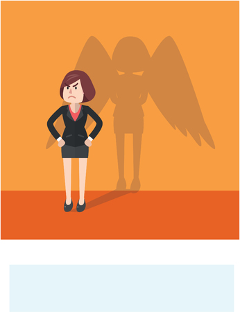 woman shadow: woman angel shadow