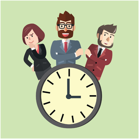 business team: Punctual business team