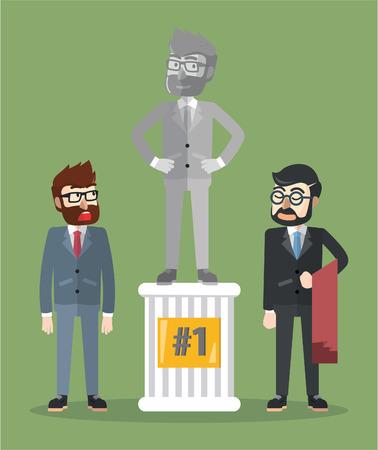 paper sculpture: Business man statue Illustration