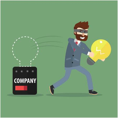 stealing: Stealing idea from corporate Illustration