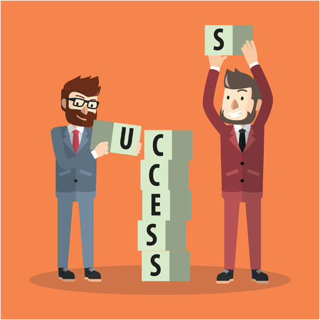 planing: Business man success planing