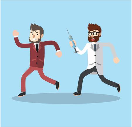 VACUNA: hombre de negocios vacunado