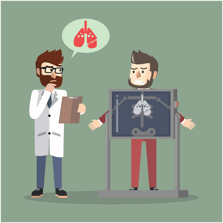 check up: Business man lung check up