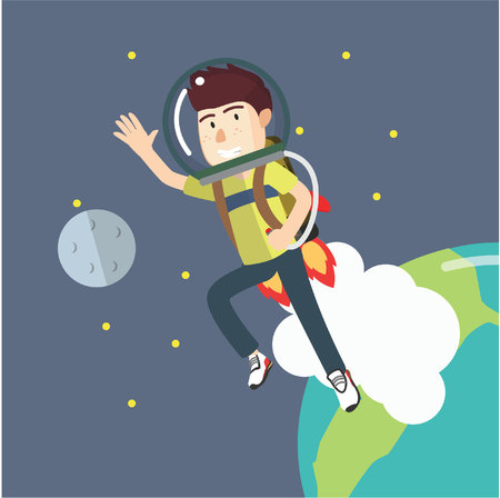 jetpack: boy go into space with a jetpack