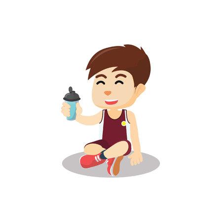 bere acqua ragazzo dopo l'attività sportiva