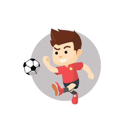 playing soccer: Boy playing soccer