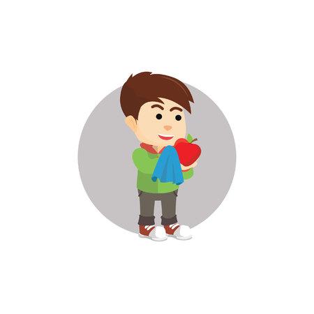 limpieza de manzana Boy
