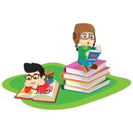 kids reading: Kids reading book