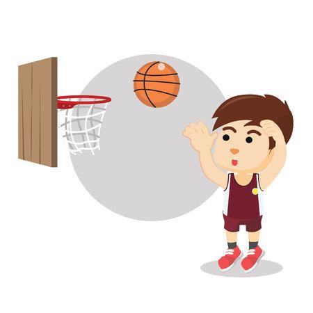 basket ball: Boy shooting basket ball