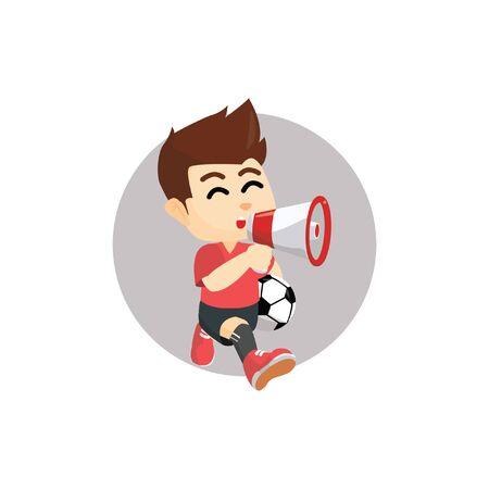 announce: Boy announce sport activity Illustration