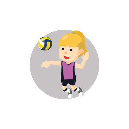 pelota de voley: Chica de balonvolea rotura violenta