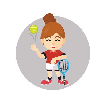 girl tennis: Girl tennis pose