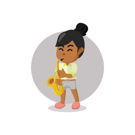 soloist: Girl playing saxophone