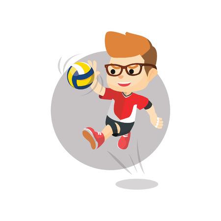 smashing: Boy smashing volleyball